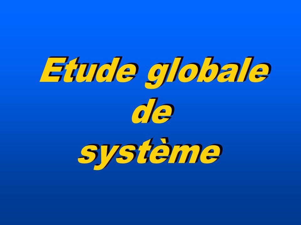 Etude globale de système