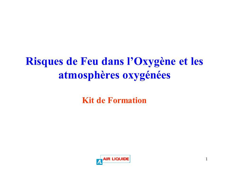 Risques de Feu dans l'Oxygène et les atmosphères oxygénées Kit de Formation