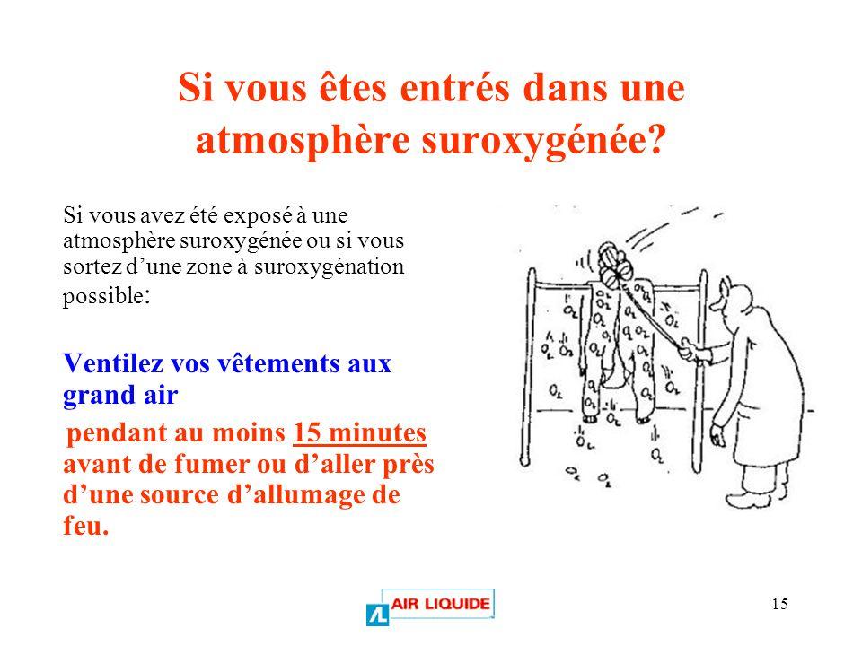 Si vous êtes entrés dans une atmosphère suroxygénée