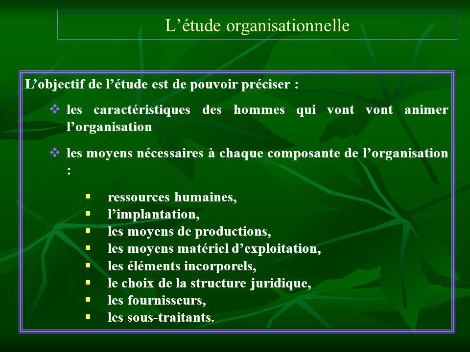 L'étude organisationnelle