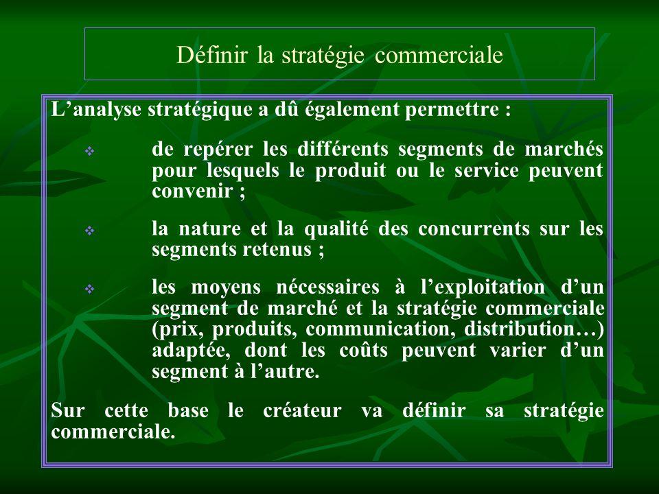 Définir la stratégie commerciale