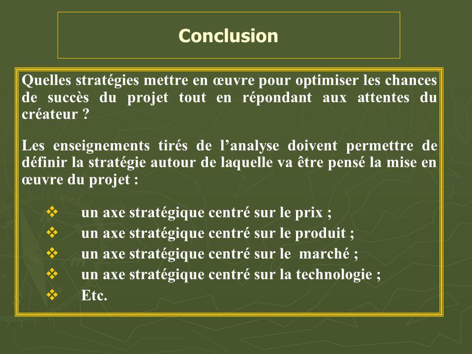 Conclusion Quelles stratégies mettre en œuvre pour optimiser les chances de succès du projet tout en répondant aux attentes du créateur