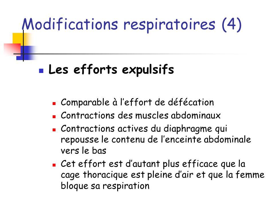 Modifications respiratoires (4)
