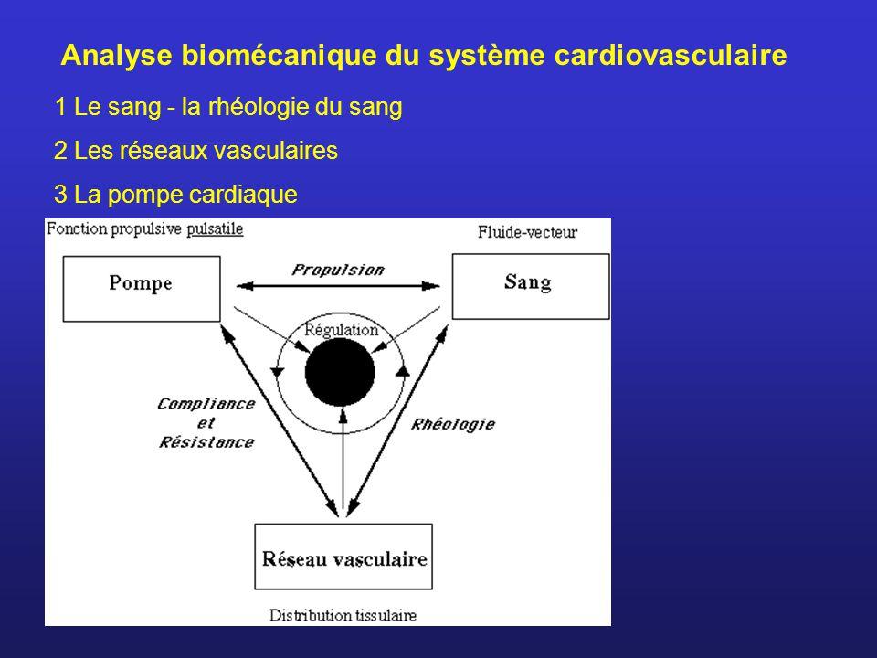 Analyse biomécanique du système cardiovasculaire