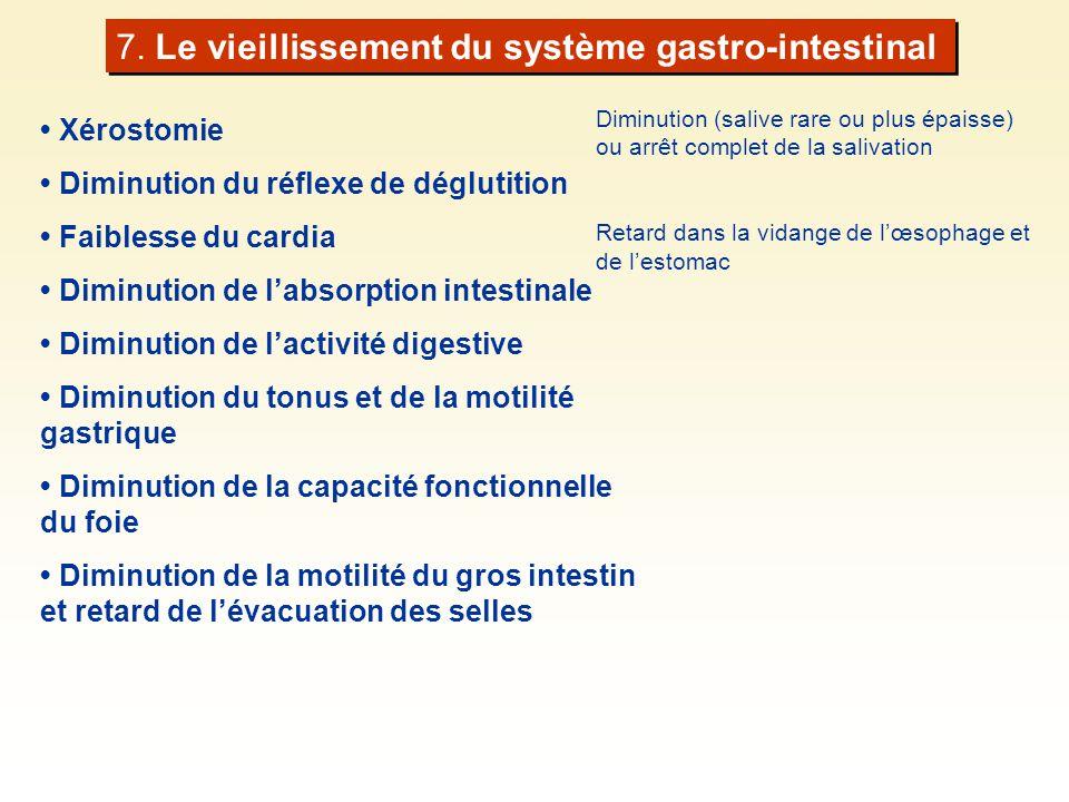 7. Le vieillissement du système gastro-intestinal