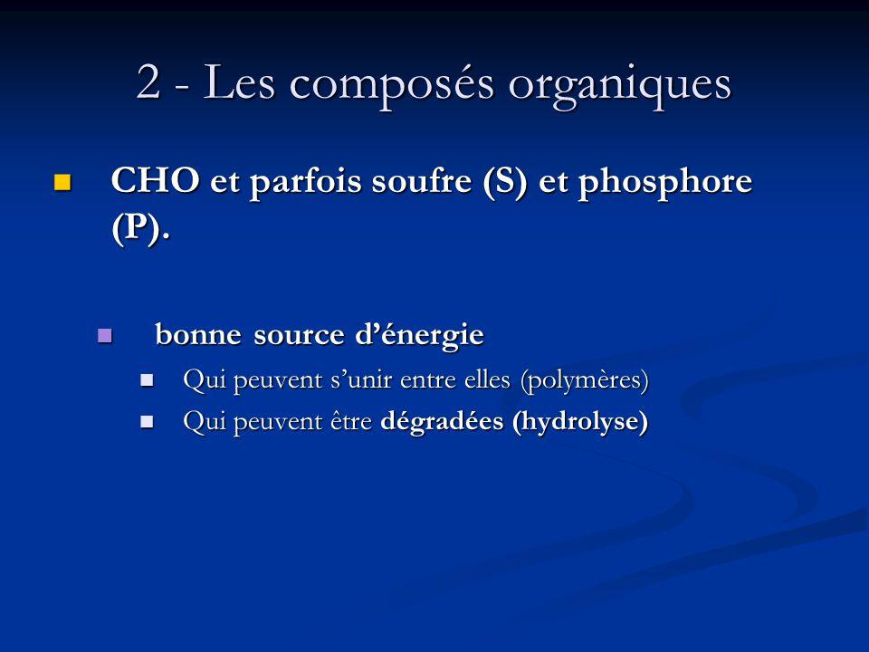 2 - Les composés organiques