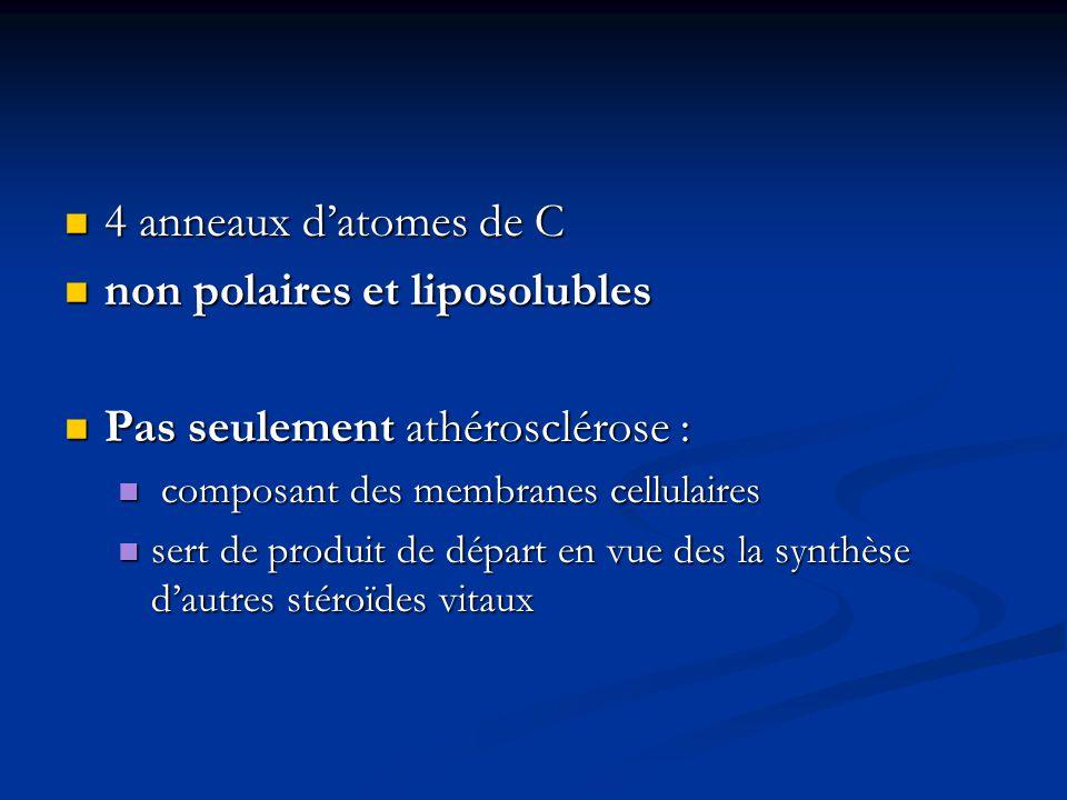 non polaires et liposolubles Pas seulement athérosclérose :