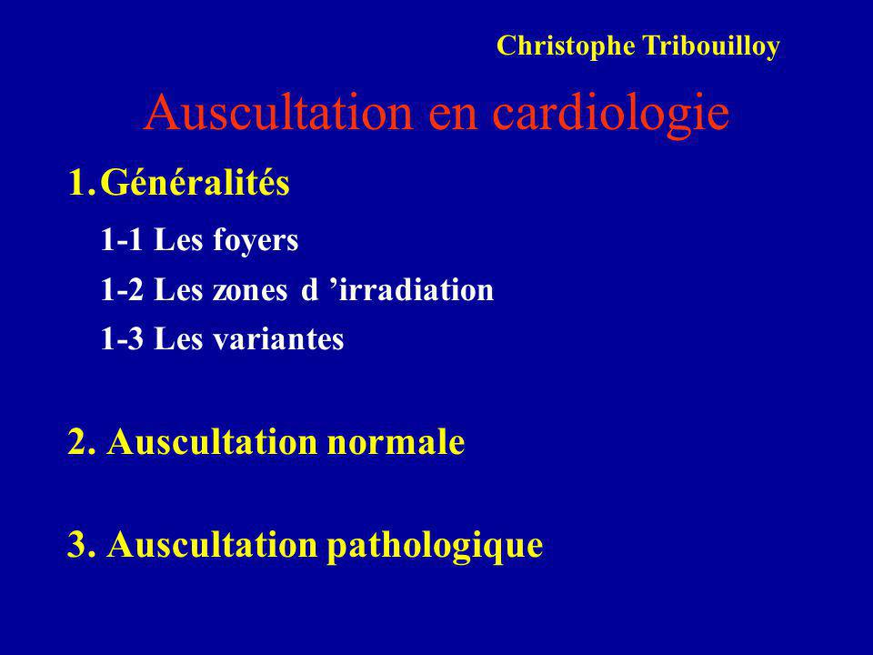 Auscultation en cardiologie