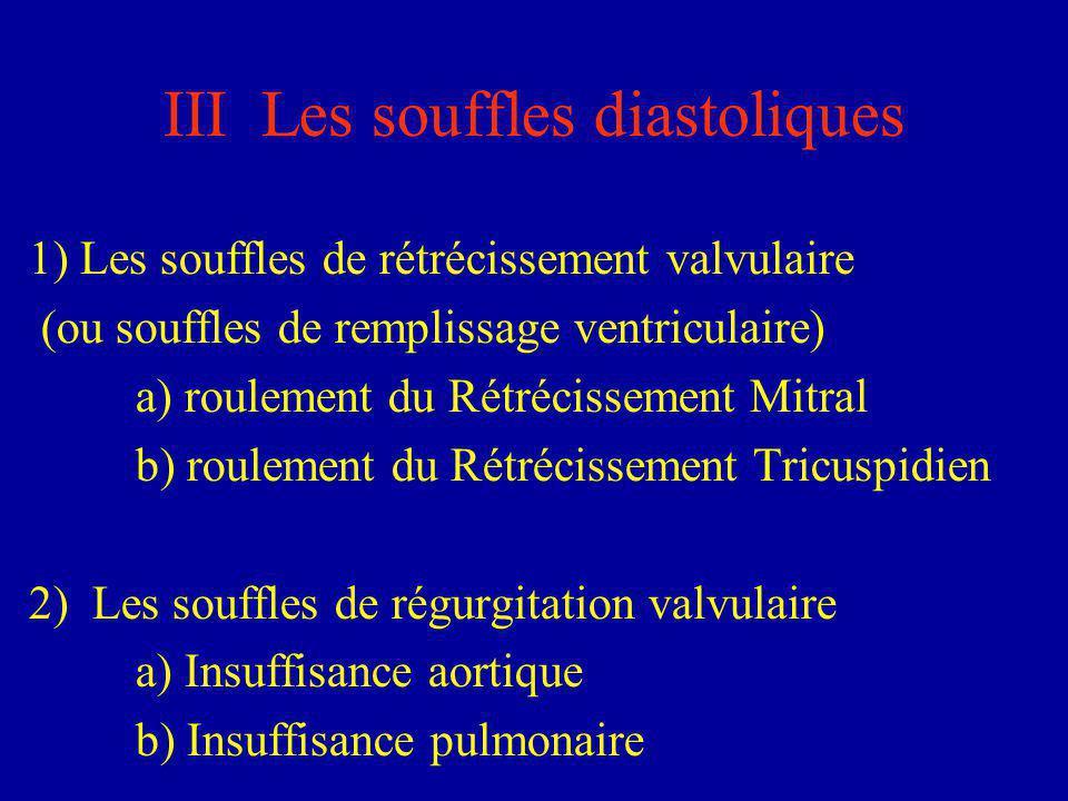 III Les souffles diastoliques