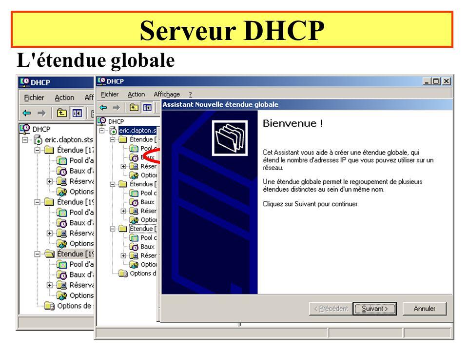 Serveur DHCP L étendue globale État initial Yonel Grusson