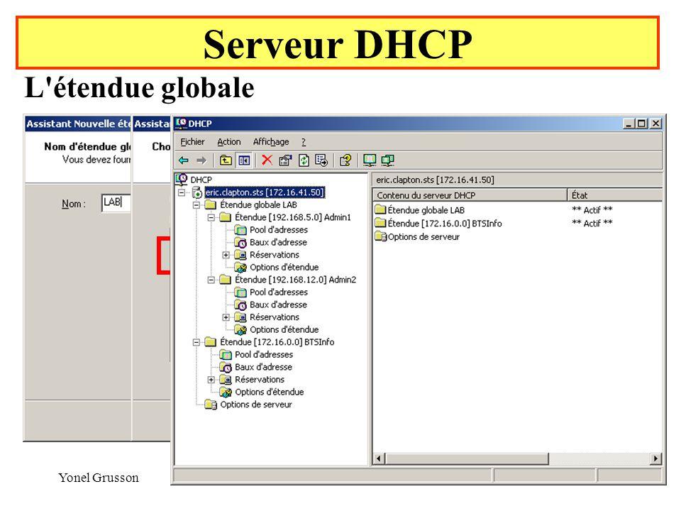 Serveur DHCP L étendue globale Yonel Grusson