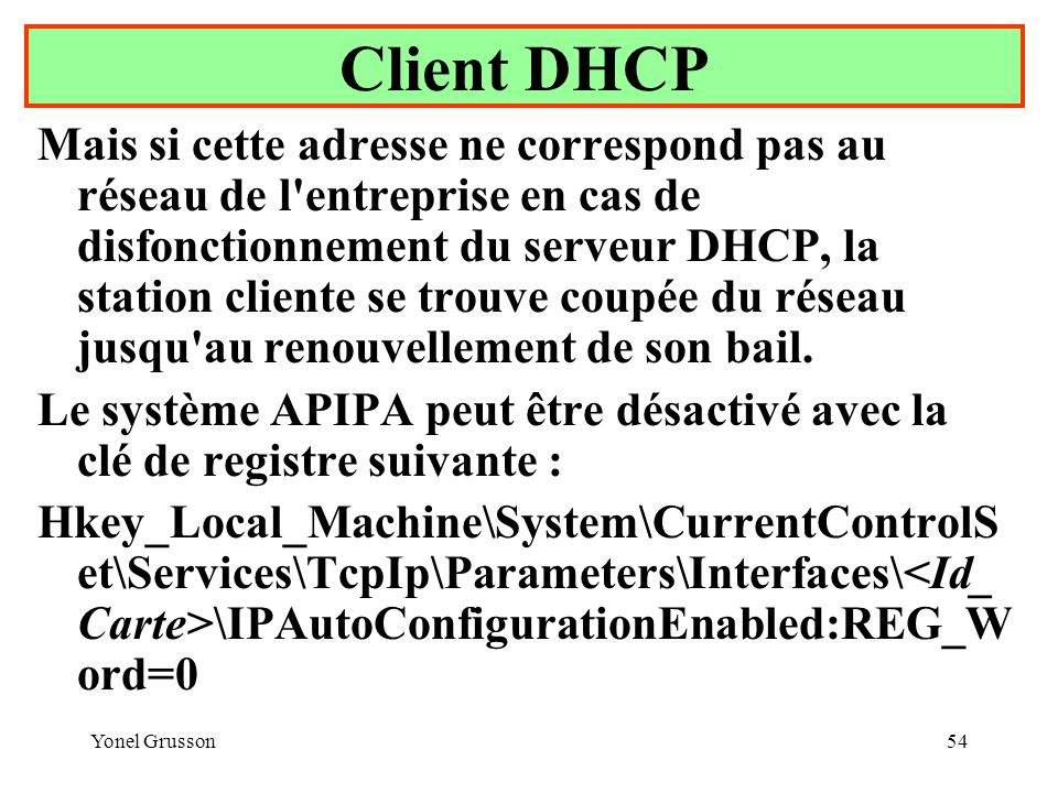 Client DHCP