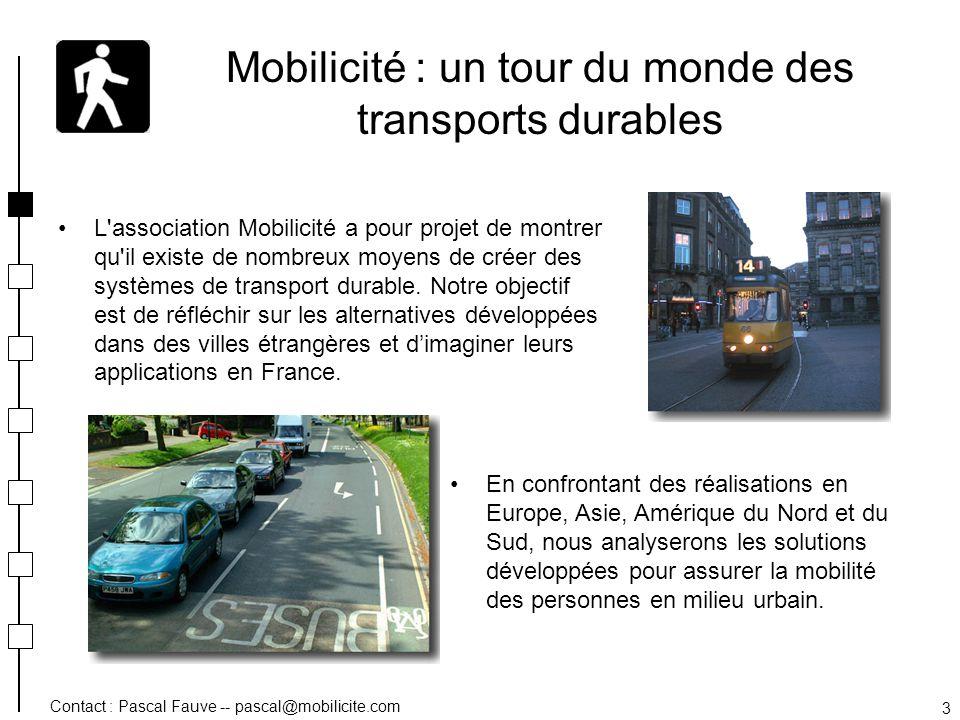 Mobilicité : un tour du monde des transports durables