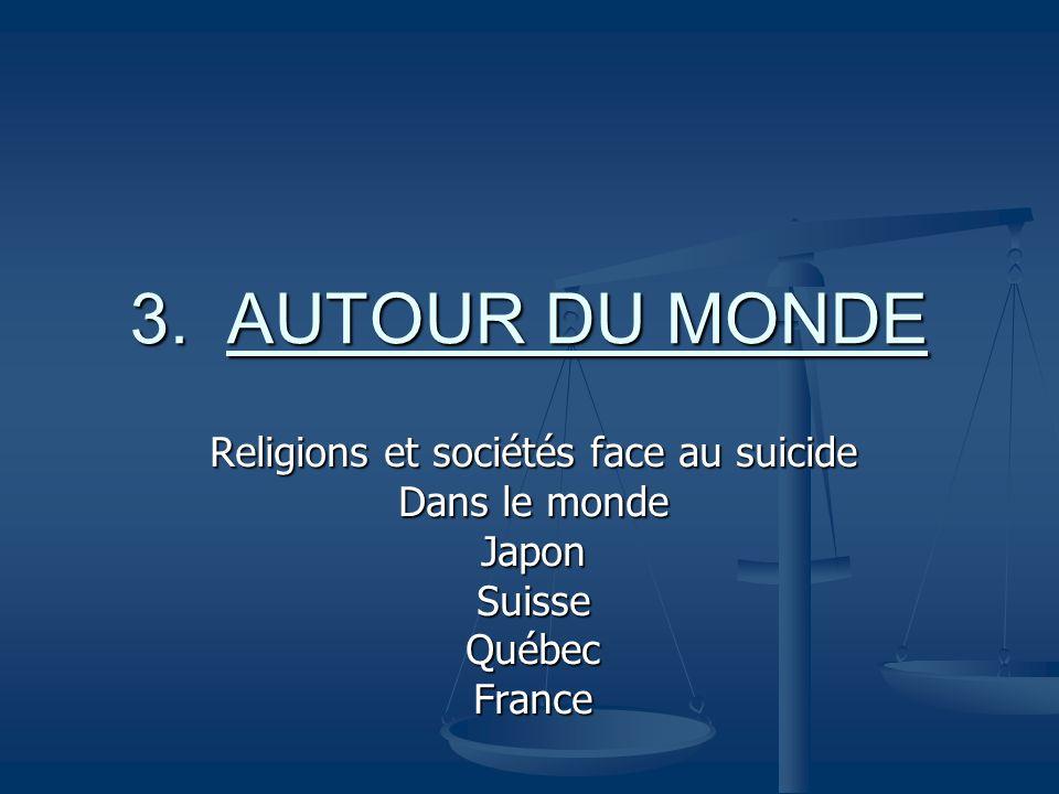 Religions et sociétés face au suicide