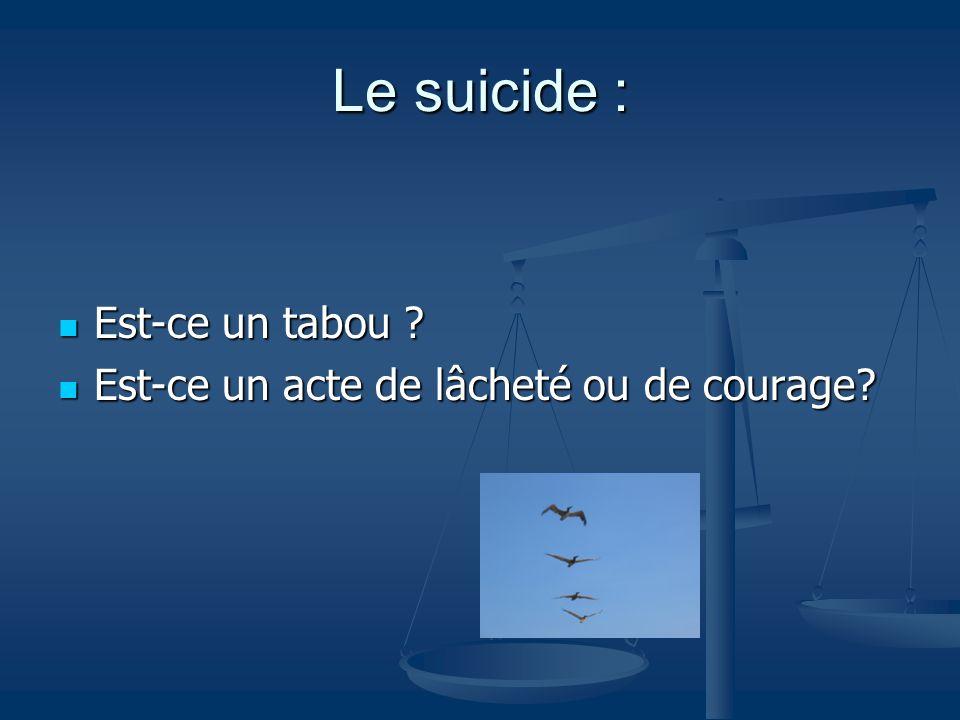 Le suicide : Est-ce un tabou