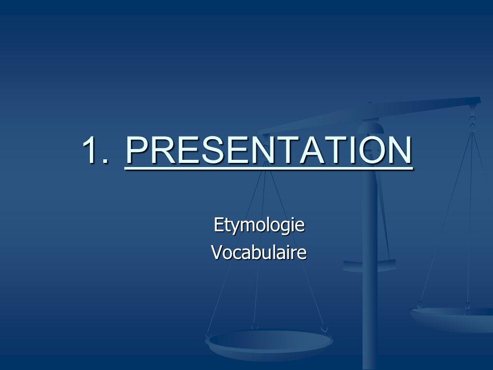 Etymologie Vocabulaire