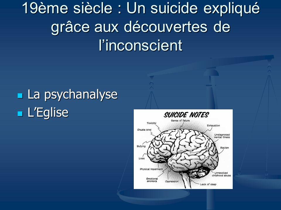 19ème siècle : Un suicide expliqué grâce aux découvertes de l'inconscient