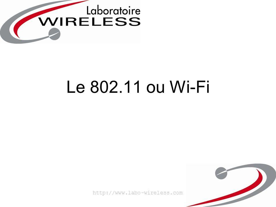 Le 802.11 ou Wi-Fi http://www.labo-wireless.com
