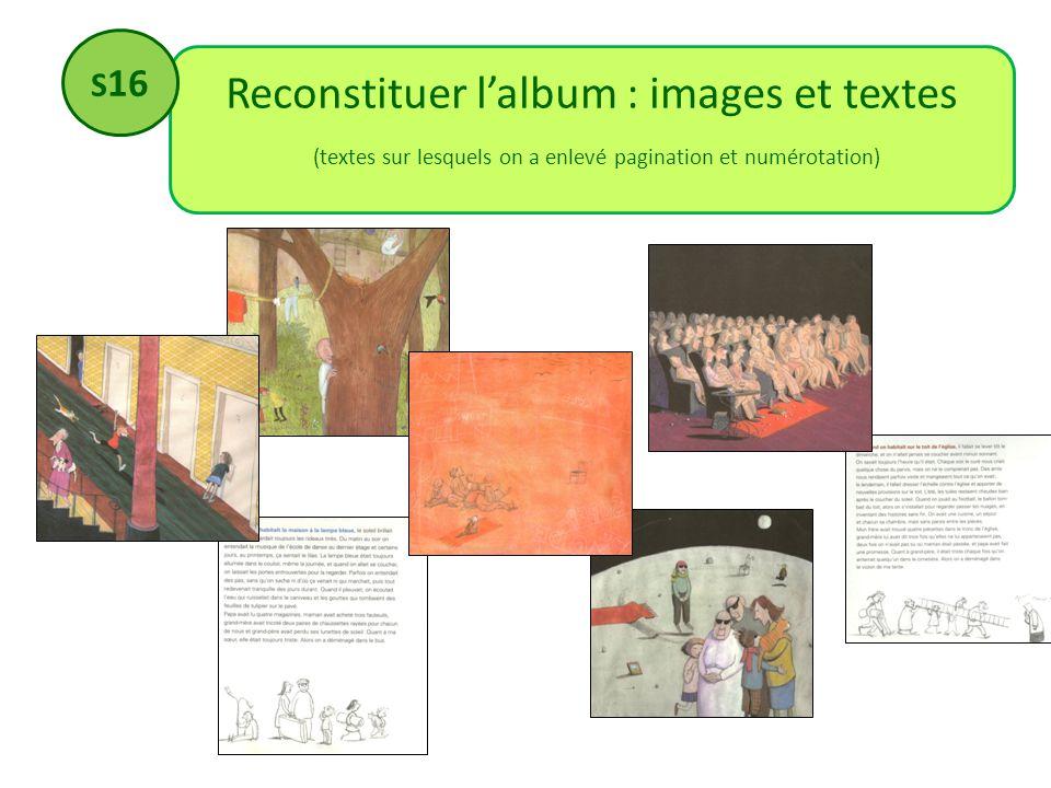 Reconstituer l'album : images et textes