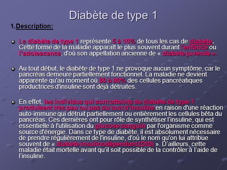 Diabète de type 1 1.Description: