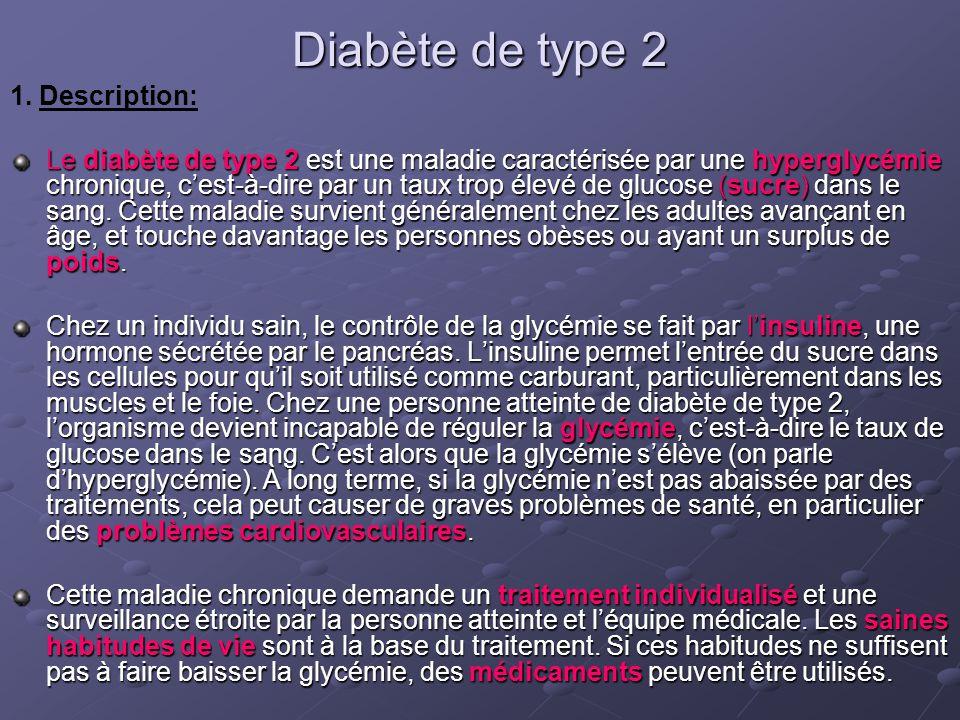Diabète de type 2 1. Description:
