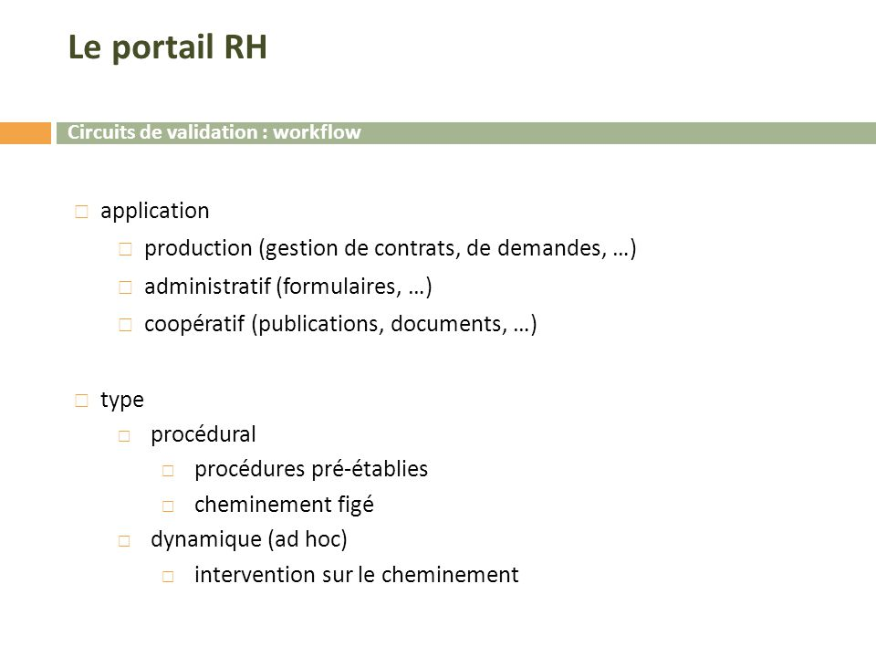 Le portail RH application