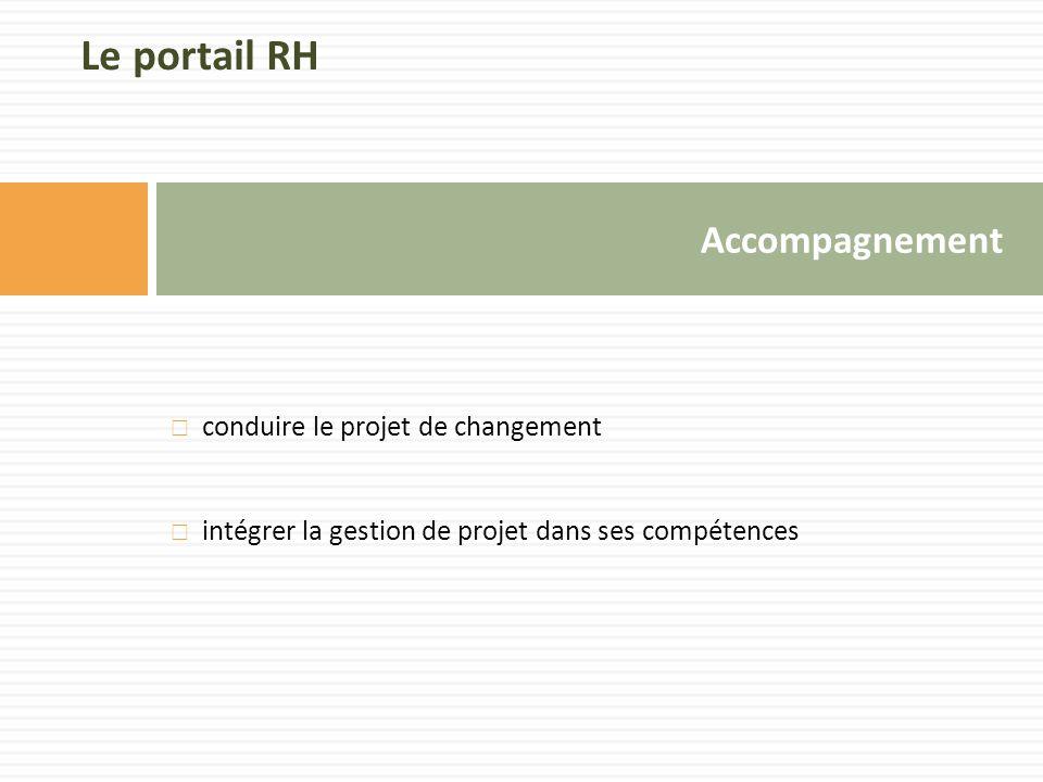 Le portail RH Accompagnement conduire le projet de changement