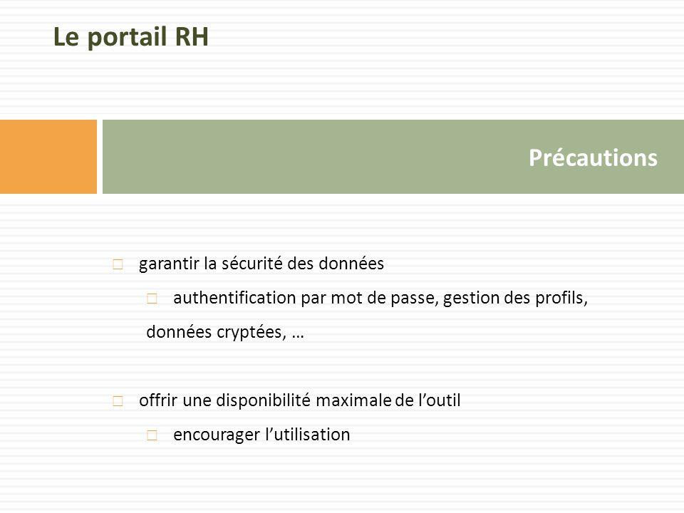 Le portail RH Précautions garantir la sécurité des données