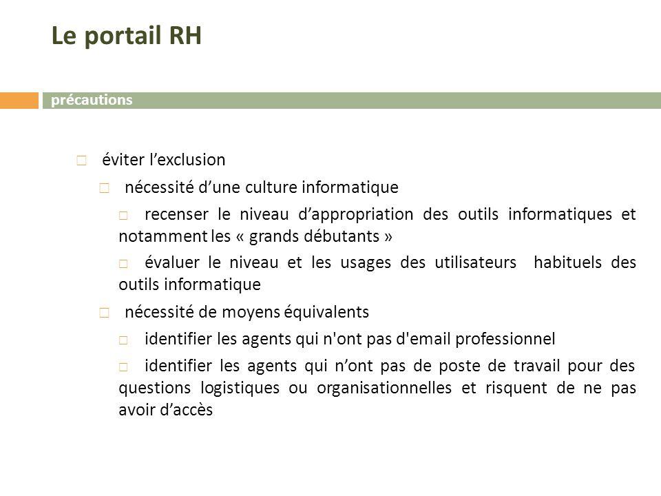 Le portail RH éviter l'exclusion nécessité d'une culture informatique