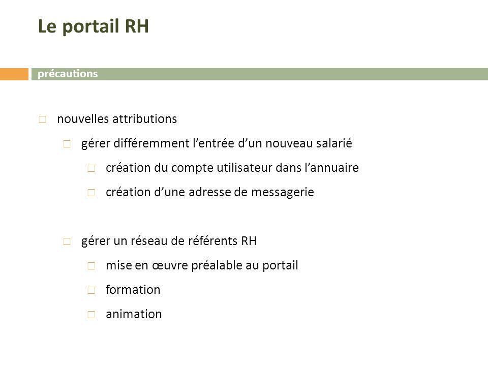 Le portail RH nouvelles attributions