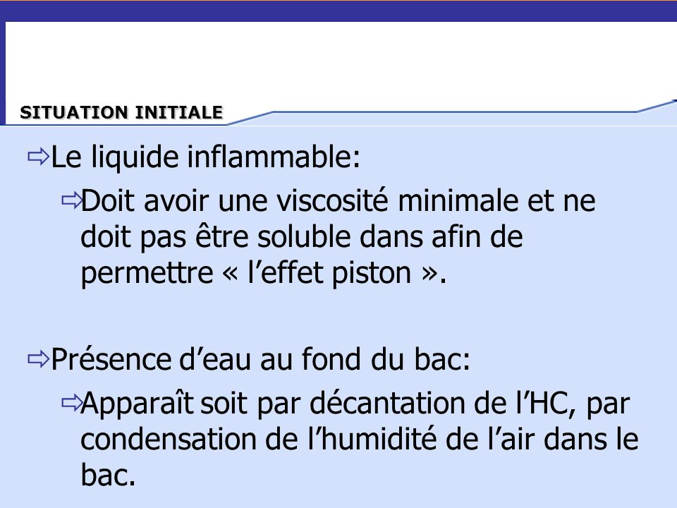 Le liquide inflammable:
