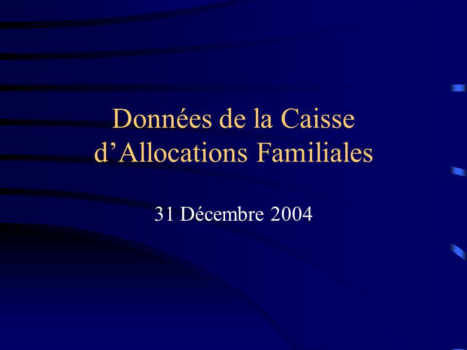 Données de la Caisse d'Allocations Familiales