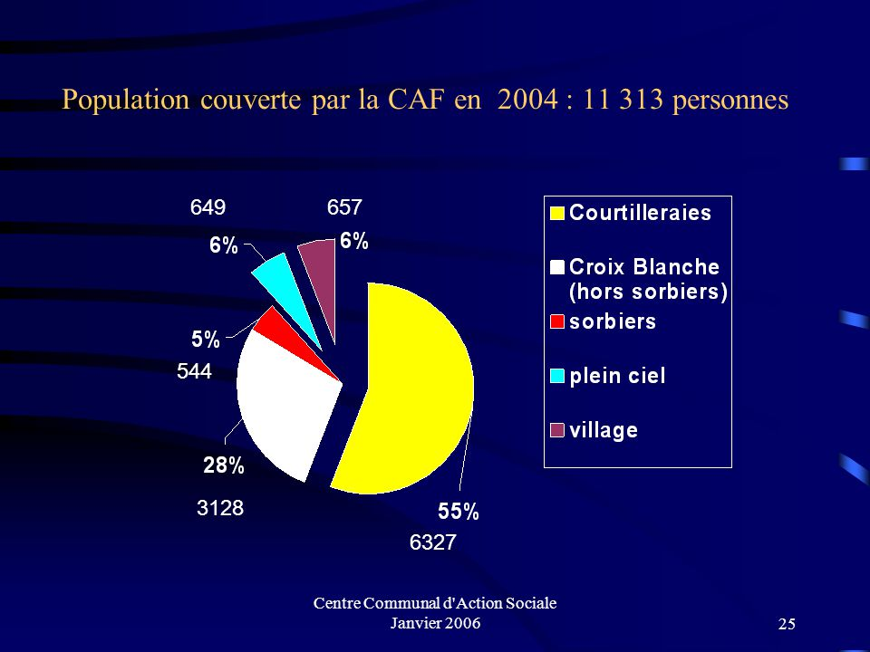 Population couverte par la CAF en 2004 : 11 313 personnes