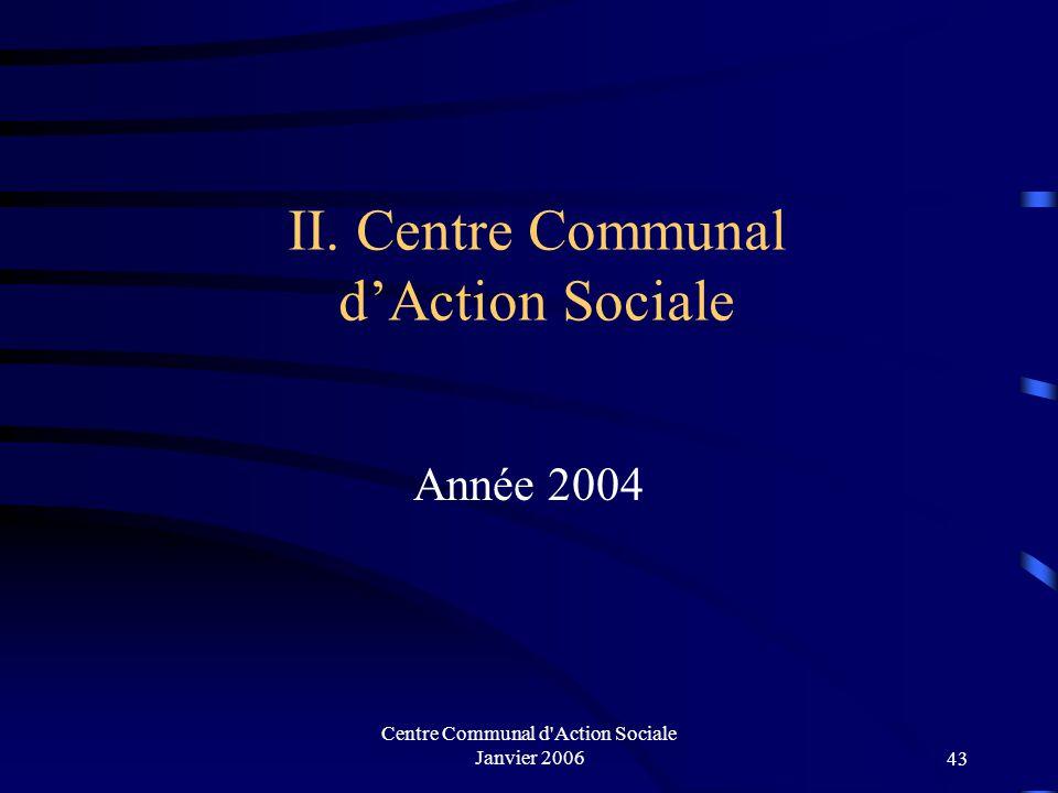 II. Centre Communal d'Action Sociale