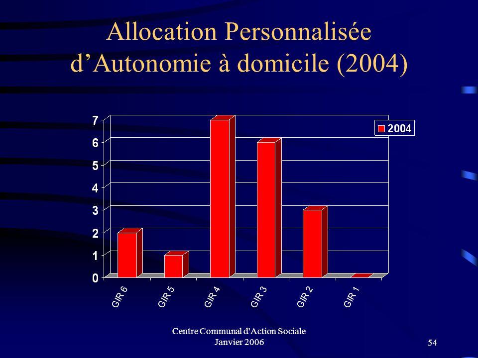 Allocation Personnalisée d'Autonomie à domicile (2004)