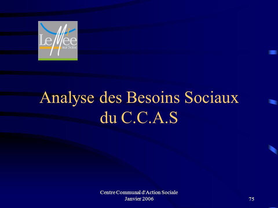Analyse des Besoins Sociaux du C.C.A.S