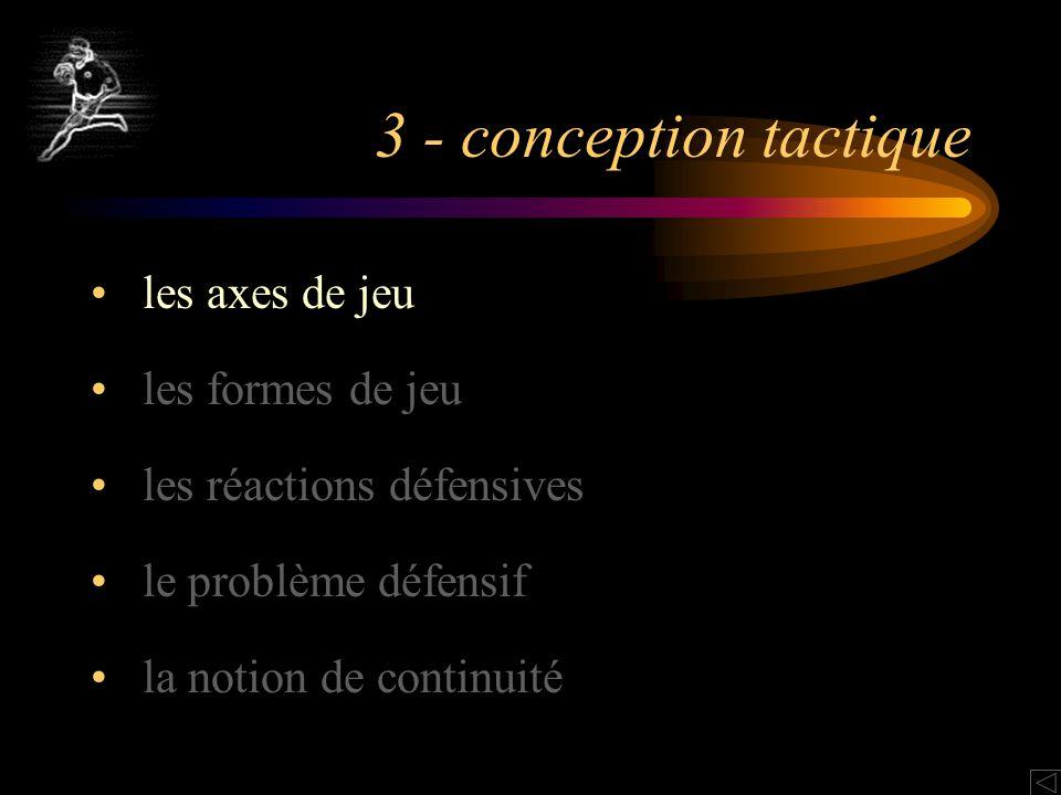 3 - conception tactique les axes de jeu les formes de jeu