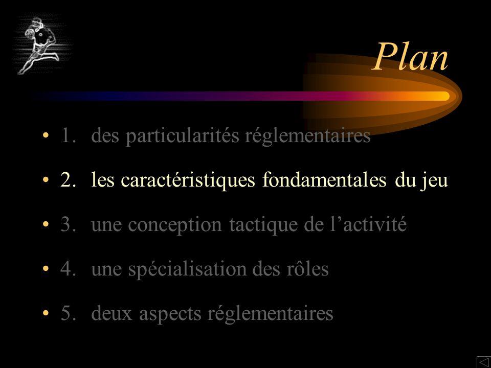 Plan 1. des particularités réglementaires