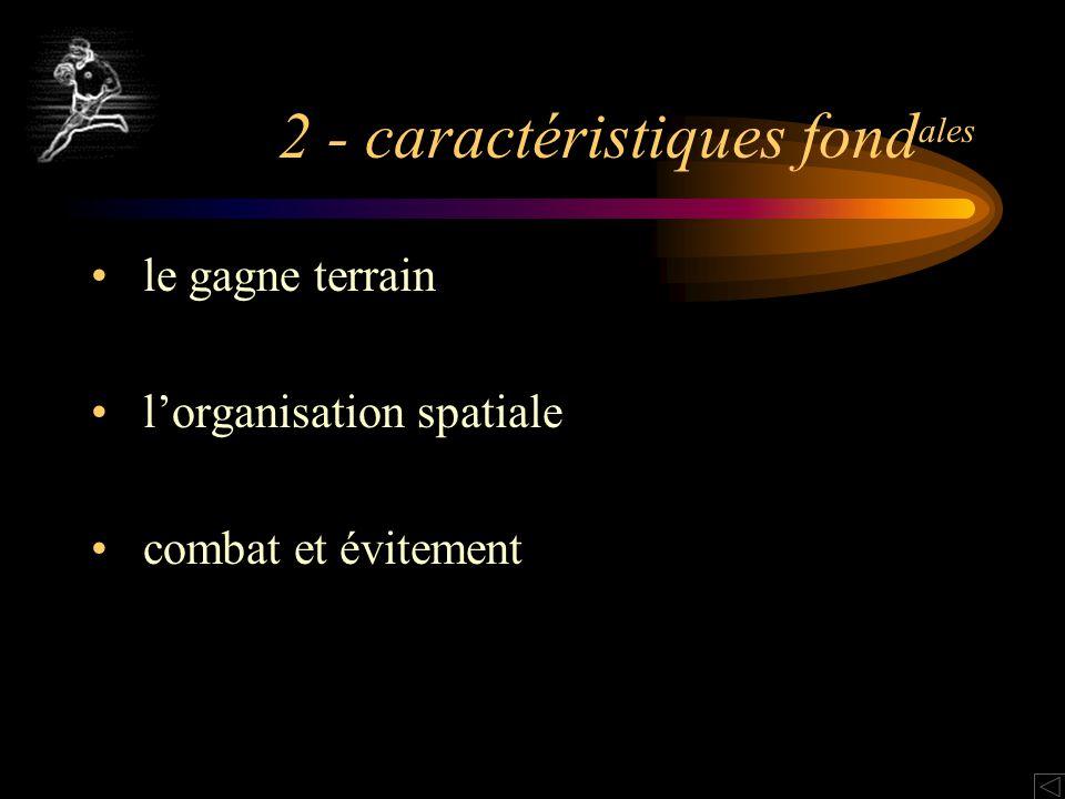 2 - caractéristiques fondales