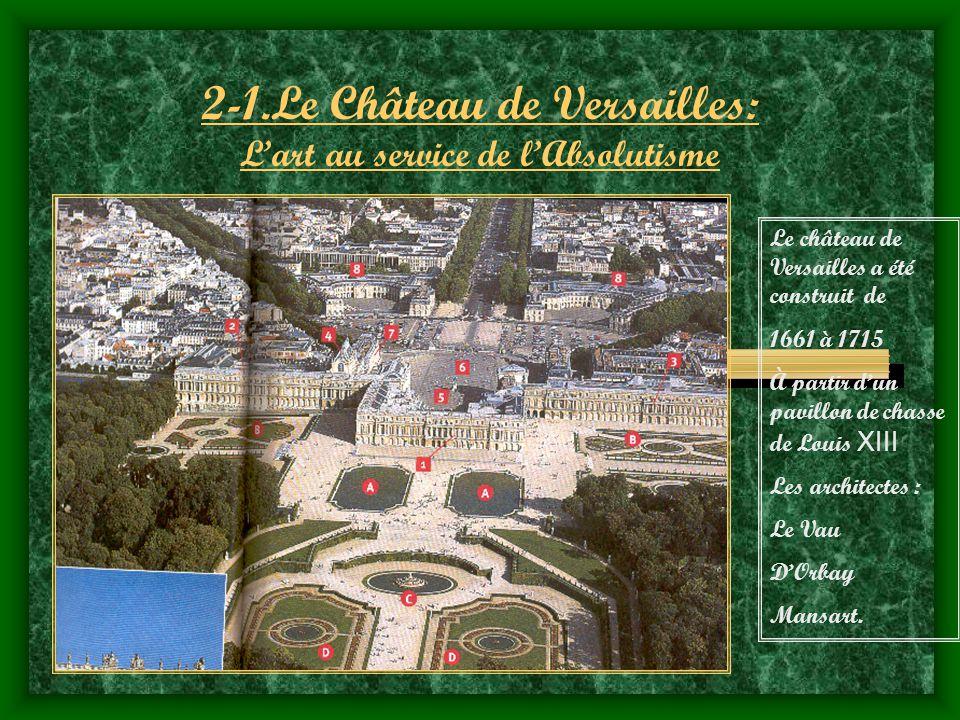 2-1.Le Château de Versailles: L'art au service de l'Absolutisme