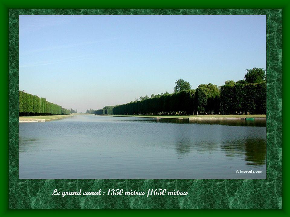 Le grand canal : 1350 mètres /1650 mètres