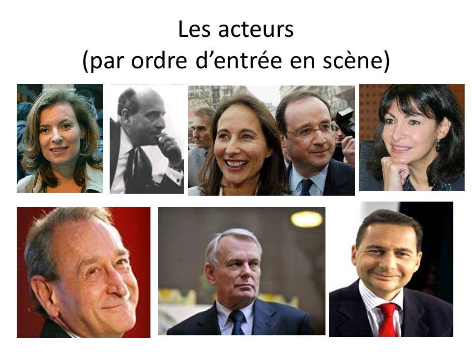 Les acteurs (par ordre d'entrée en scène)