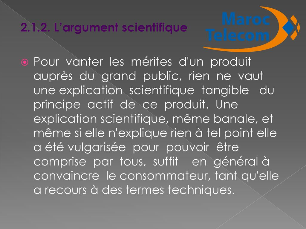 L'argument scientifique