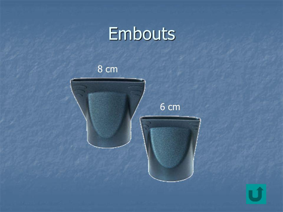 Embouts 8 cm 6 cm