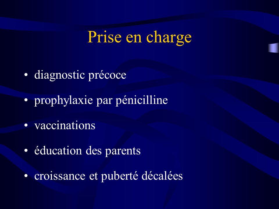 Prise en charge diagnostic précoce prophylaxie par pénicilline