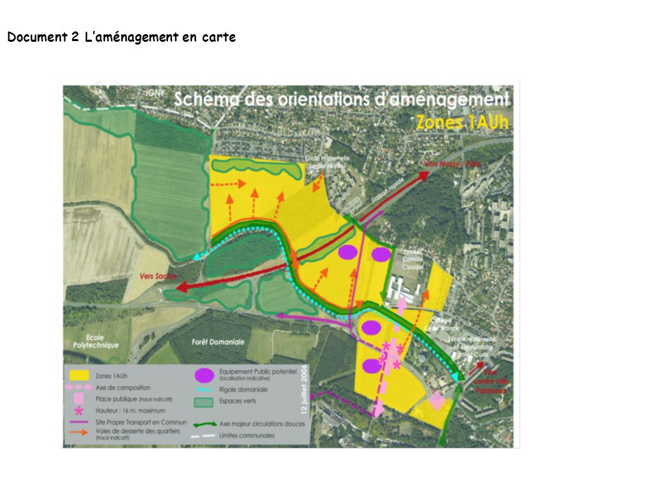Document 2 L'aménagement en carte