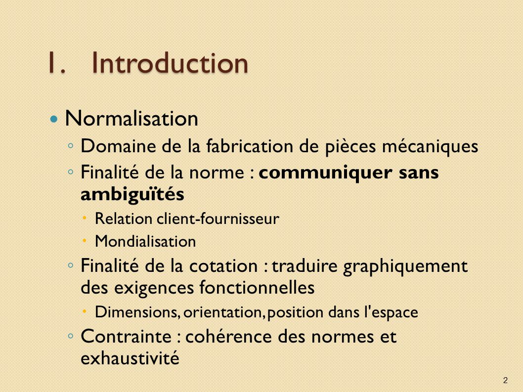 Introduction Normalisation