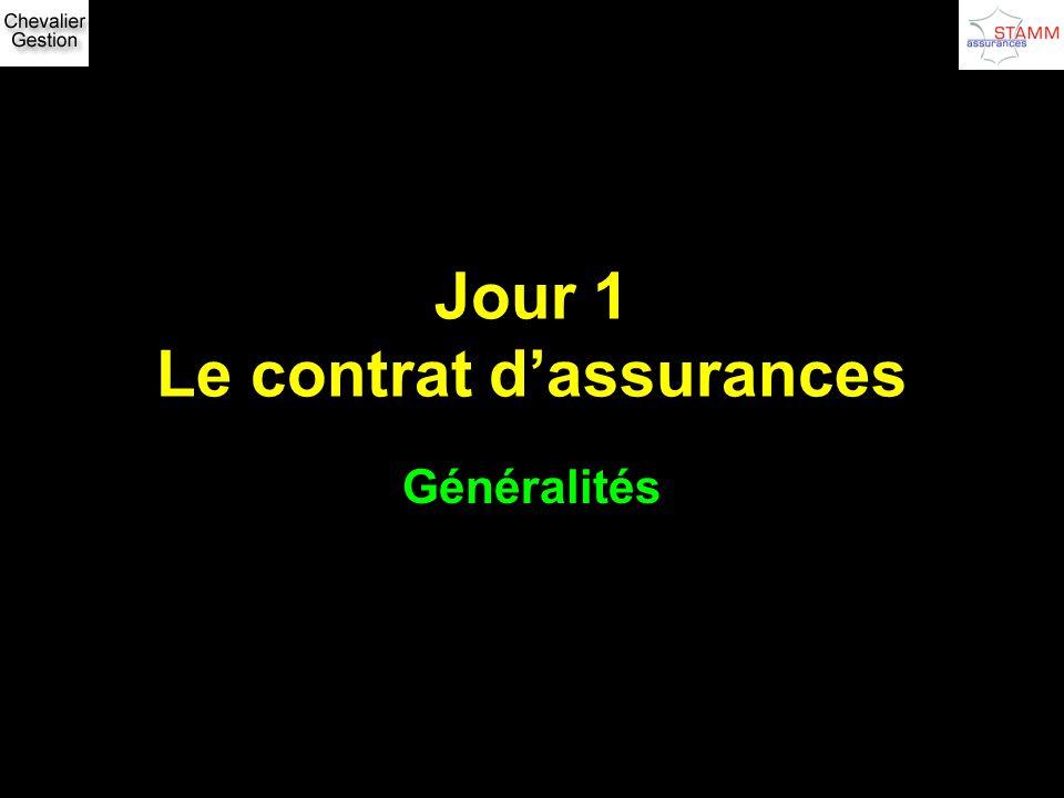 Jour 1 Le contrat d'assurances