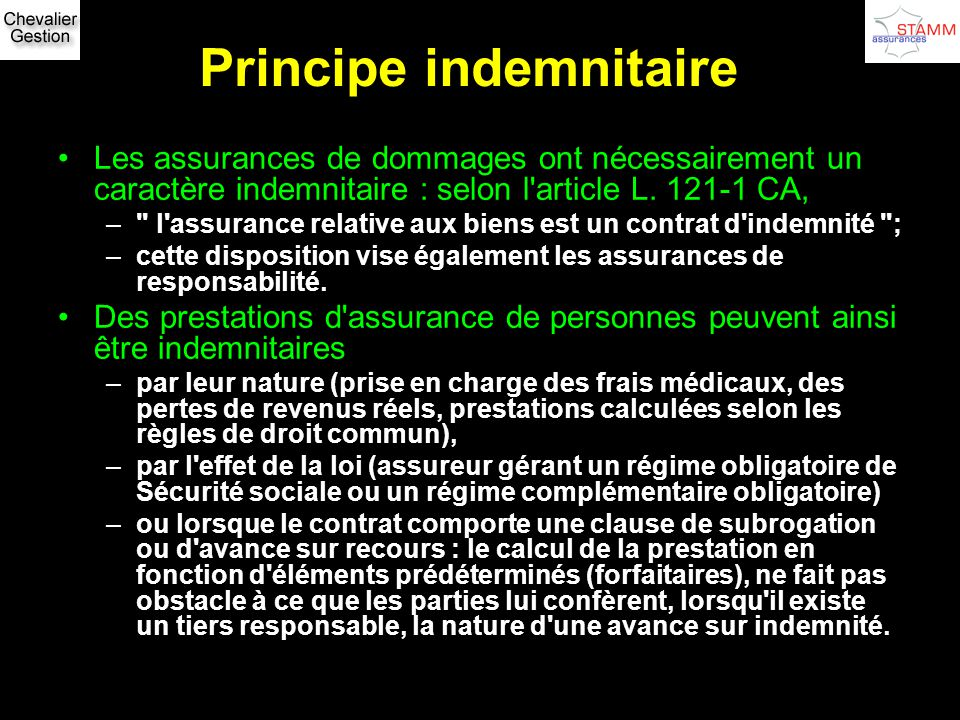 Principe indemnitaire