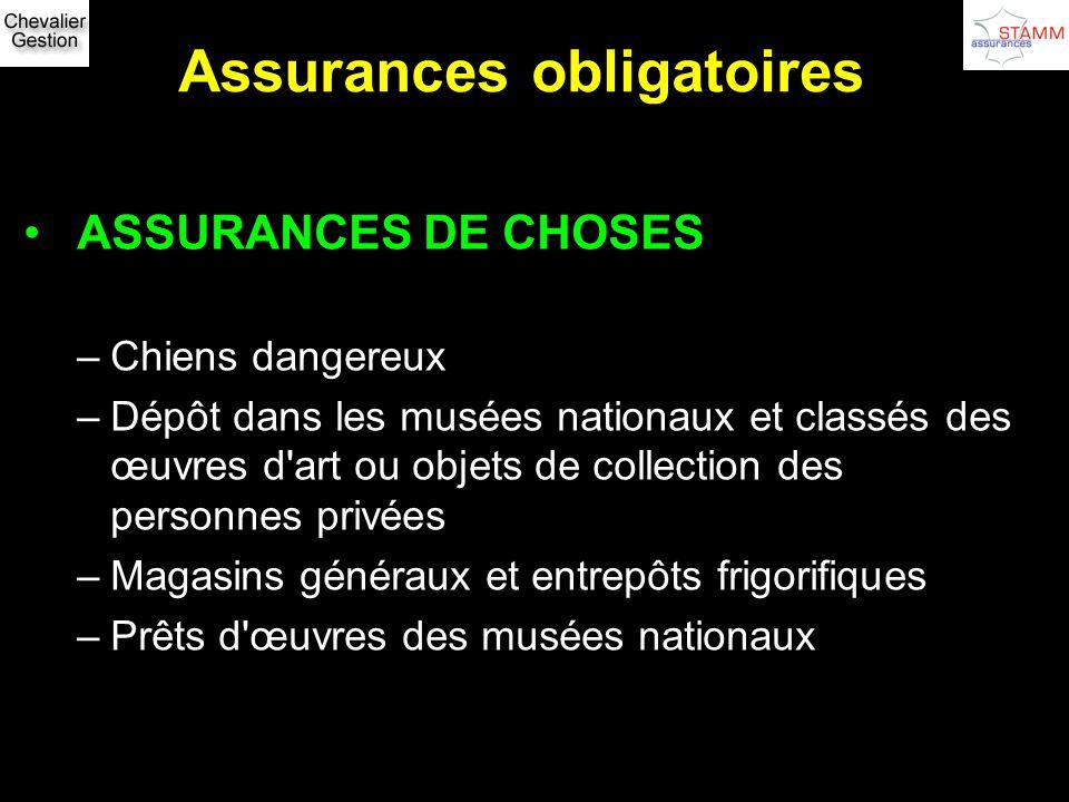 Assurances obligatoires
